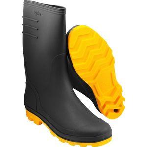 Bota PVC Vonder Cano Médio Nº 42 Preto/Amarelo