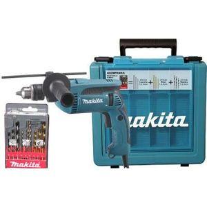 """Furadeira de Impacto 1/2"""" Makita HP1640KX1 760W com Maleta e Kit Brocas"""