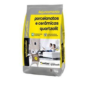 Rejunte Porcelanato Quartzolit Marrom Café 1kg