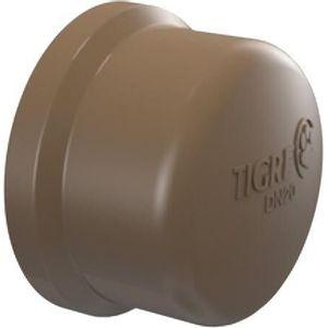 Cap Soldável Tigre 50mm PVC Marrom