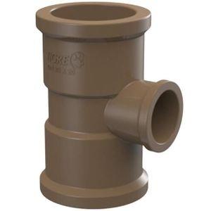 Tê de Redução Tigre Soldável 50x25mm PVC Marrom