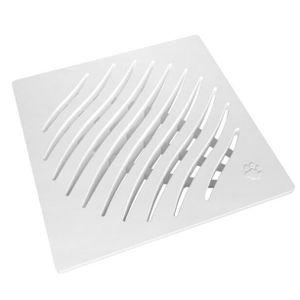 Grelha Ecológica PVC Tigre 150mm Quadrada Branca
