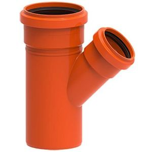 Junção Simples PVC Tigre Redux 100x75mm Vermelha