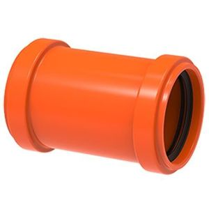 Luva de Correr PVC Redux Tigre 50mm Vermelha