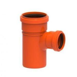 Tê de Esgoto Redux PVC Tigre 100x75mm Vermelho