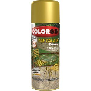 Tinta Spray Colorgin Metallik Interior Sherwin William 350ml Prata Metálico