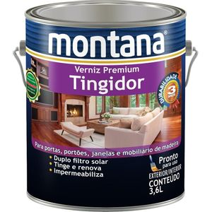 Verniz Montana Tingidor Premium 3,6L Imbuia Brilhante