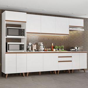 Cozinha Completa Madesa Reims 320002 com Armário e Balcão Branco