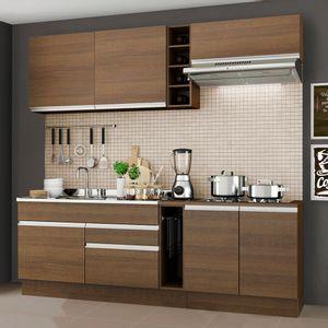 Cozinha Completa Madesa Parma com Armário e Balcão (Sem Tampo e Pia)Rustic