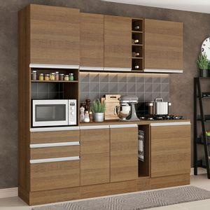 Cozinha Completa Madesa Áquila com Armário e Balcão Rustic