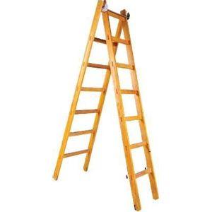 Escada Abre Estica Pro Forma 7 Degraus 2,12x3,53m Madeira