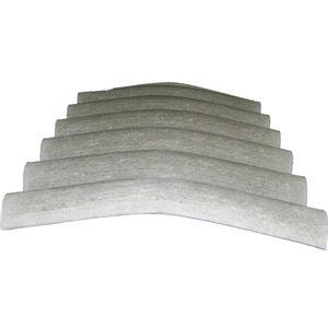 Cumeeira Fibrocimento Isdralit Normal 1,1m Cinza 15
