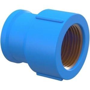 """Luva Tigre Soldável com Bucha de Latão 25mmx1/2"""" PVC Azul"""