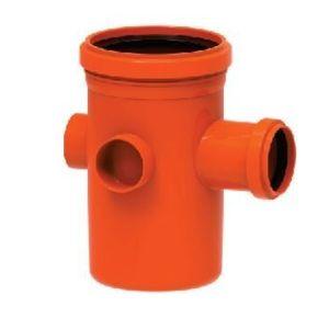 Corpo para Caixa Sifonada PVC Tigre 3 Entradas 100x150x50mm Vermelho