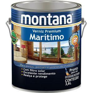 Verniz Montana Marítimo Premium 3,6L Transparente Brilhante