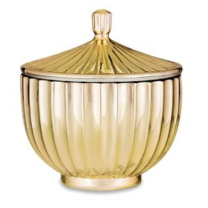 Pote Decorativo Mart Collection Vidro Dourado 8,5cm