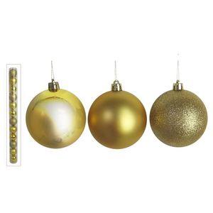 Kit Bolas de Natal Diagonal Dourado 12 Peças