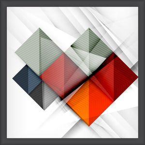 Quadro Diagonal Vision I 35x35cm