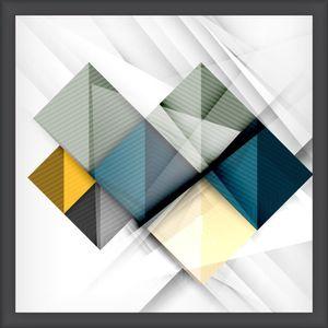 Quadro Diagonal Vision II 35x35cm