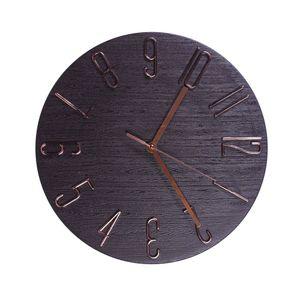 Relógio de Parede Diagonal 30cm Zoe Marrom