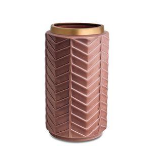 Vaso Mart Collection Cerâmica Marsala Dourado 10316