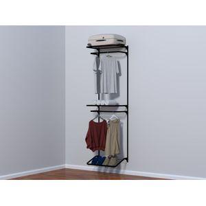 Kit Closet Dicarlo Móveis 1 Módulo 60x200cm Preto