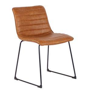 Cadeira Diagonal Cavalier Marrom