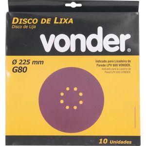 """Disco de Lixa para Parede Vonder 10"""" Grão 80"""