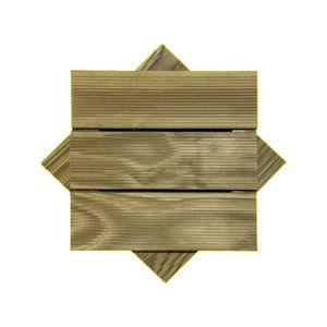 Deck Modular Madvei 30x30cm Pinus Autoclavado