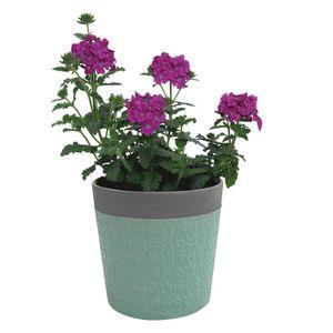 Cachepot Urban Little Flowers Redondo 15,2x15,8cm Verde