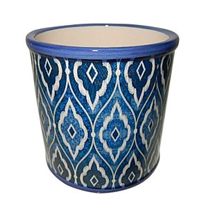 Cachepot Urban Rounded Marrocan Blue Redondo 12,5x13cm Azul