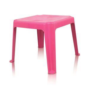 Mesa de Plástico Antares Infantil Quadrada 45cm Rosa