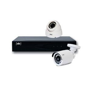 Kit Câmeras de Segurança HD VTV Digital DVR 4 Canais
