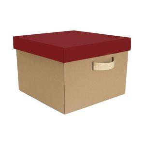 Caixa Organizadora Boxmania Papel do Bem 44x41,5x29cm Vermelha
