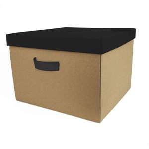 Caixa Organizadora Boxmania Papel do Bem 44x41x29 Preta