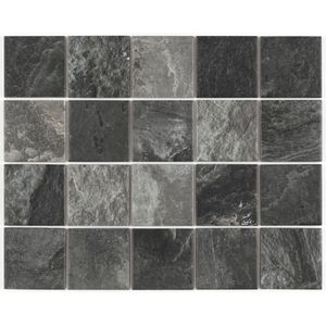 "Piso Cerâmico Eliane Ardosia Mesh 7,5x7,5cm Acetinado Bold Black Classe ""A"""