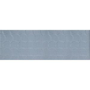 "Azulejo Roca Shell Satin Lake 30x90,2cm Acetinado Retificado Azul Classe ""A"""