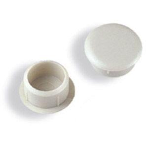 Tapa Furo Bemfixa 8mm Acetinado Branco
