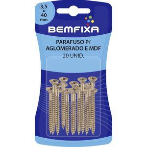 Parafuso de Ferro para Madeira Bemfixa 3,5x40mm 30 Peças
