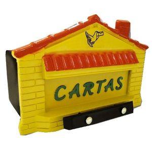 Caixa de Correspondência JLK Plásticos PVC Casa Amarela