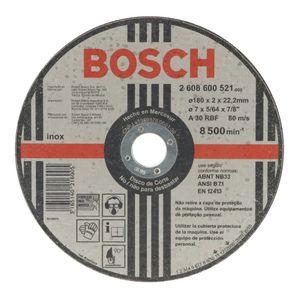 Disco de Corte Bosch para Inox 180x2mm Grão 30