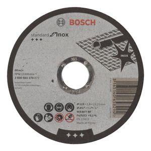 Disco de Corte Bosch para Inox Standard 115x1,6mm Grão 60