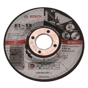 Disco de Corte Bosch para Metal 3 em 1 115x2,5mm Grão 30