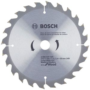 Disco de Serra Bosch para Madeira Eco 184mm 24 Dentes
