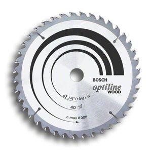 Disco de Serra Bosch para Madeira Optiline Wood 184mm 40 Dentes