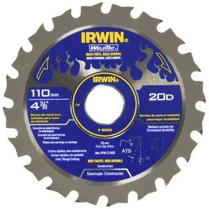 Disco de Serra Irwin Weld Tec 110mm 20 Dentes