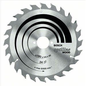 Disco de Serra Bosch para Madeira Optiline Wood 184mm 24 Dentes