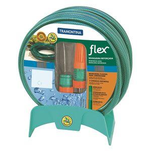 Mangueira Tramontina Flex com Esguicho Regulável 25m Verde