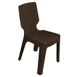 Cadeira de Plástico Keter T-Chair Marrom