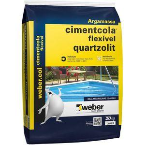 Argamassa ACIII Quartzolit 20kg Cinza
